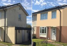 Council houses get external wall insulation