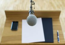 microphone podium