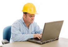 construction worker computer
