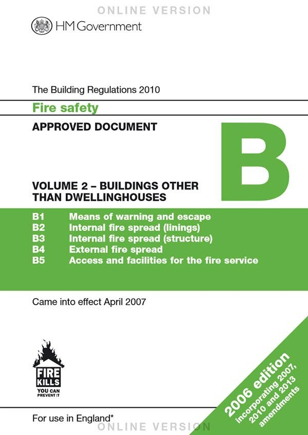Approved document b planning building control today for Construction rules and regulations