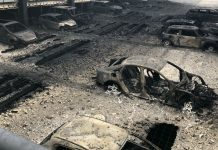 Fires in car parks