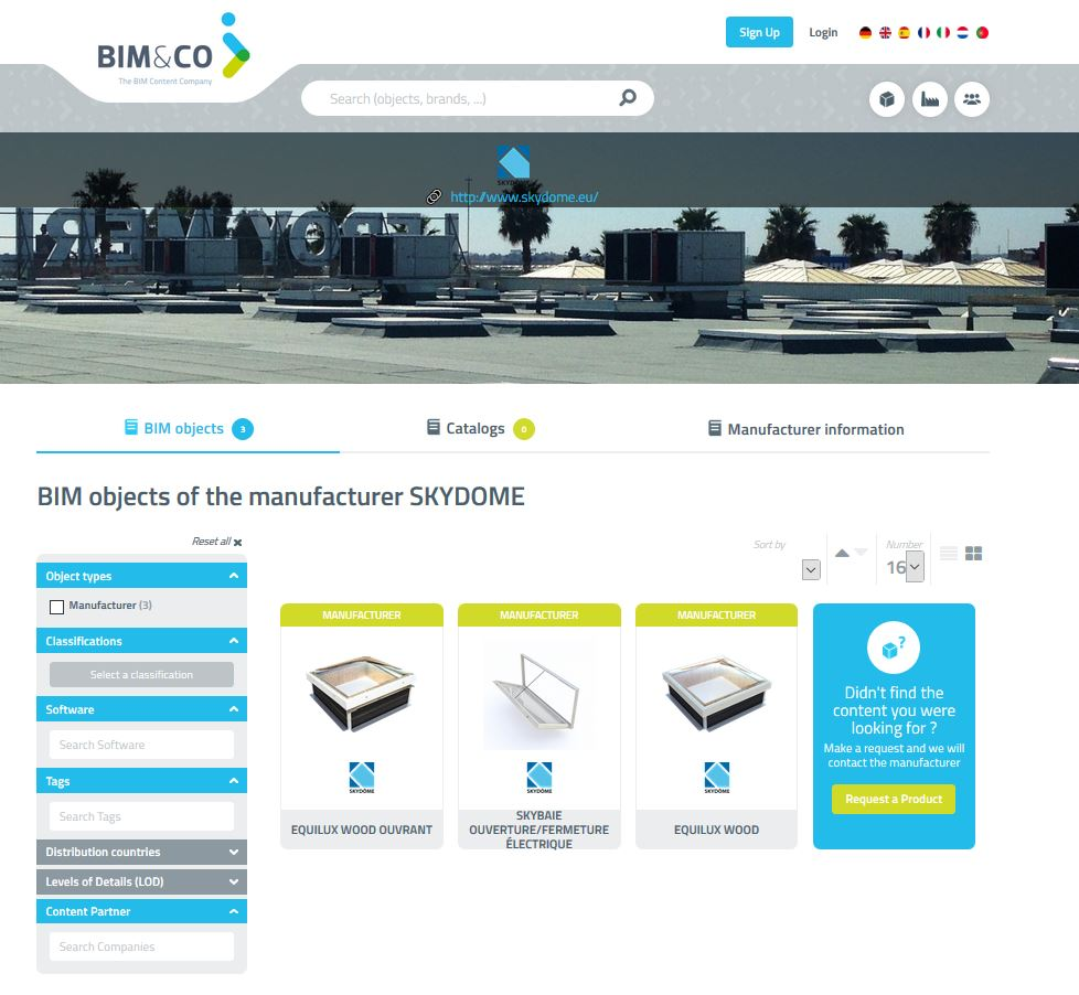 Skydôme entrusts BIM&CO with the publication of its BIM objects