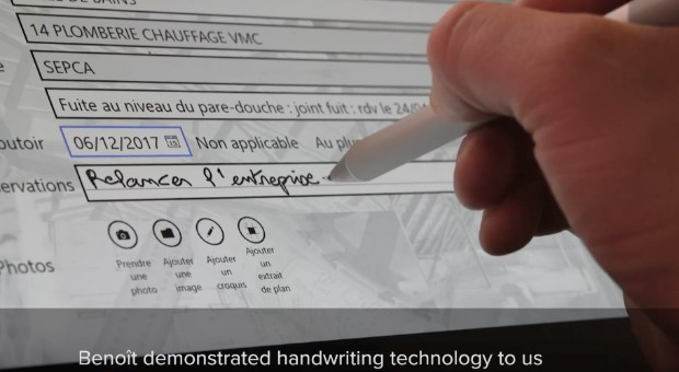 BatiScript handwriting recognition technology