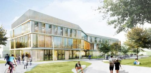 Cavendish III Physics Laboratory, with earthworks by Mick George Ltd