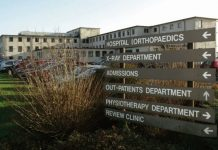 modular building, Merlin Park Hospital,