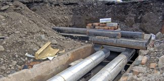 underground pipe network, roadworks,