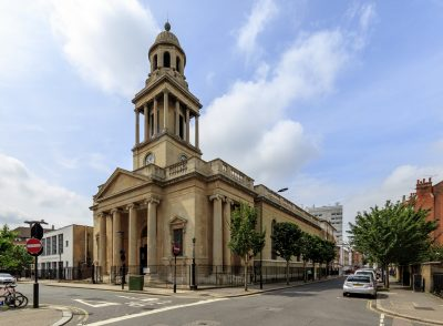Church renovation at the Lisson Grove Conservation Area