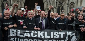 blacklisting of construction workers, unite,