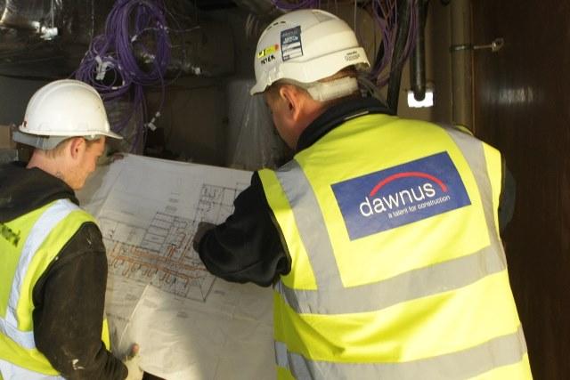 Dawnus, Construction company, administration,
