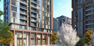 unitised facade system, Harbour Central, Premier Guarantee, Galliard homes,