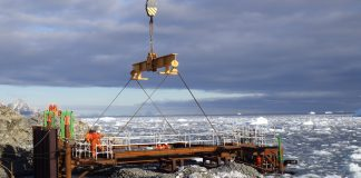 New Antarctic Wharf, British Antarctic Survey,