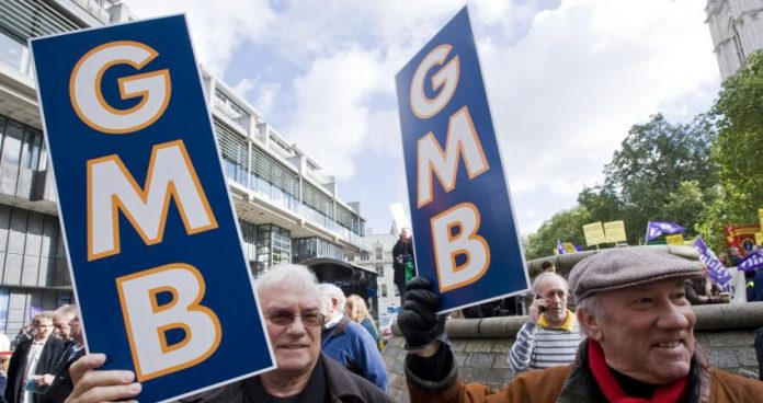 GMB members, Forterra, strike action,