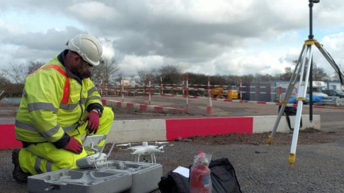 Smart motorway, balfour beatty, Heliguy, drones,