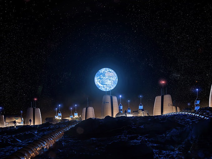 moon village, ESA,