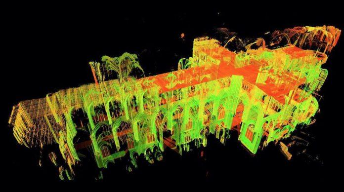 Laser scan, Professor Andrew Tallon, notre dame,