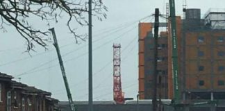 Tower crane, Midland Metropolitan Hospital,