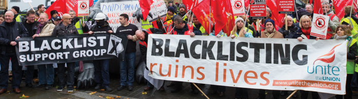 Blacklisted construction workers, construction companies, unite,