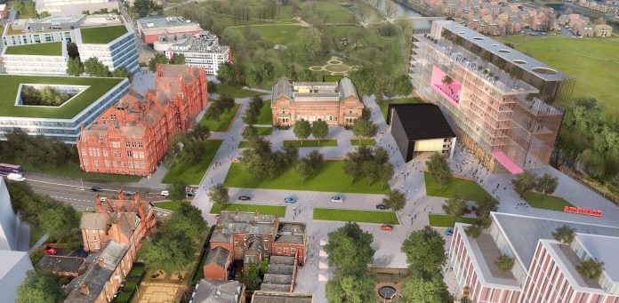 Salford Crescent, University of Salford, masterplan,