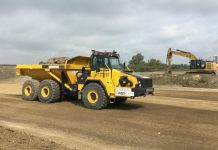 Self-driving dump trucks, roadworks,