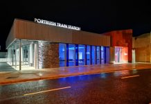 Portrush train station, translink, Graham