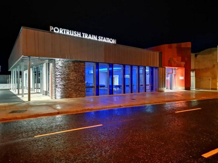 Portrush train station, translink, Graham