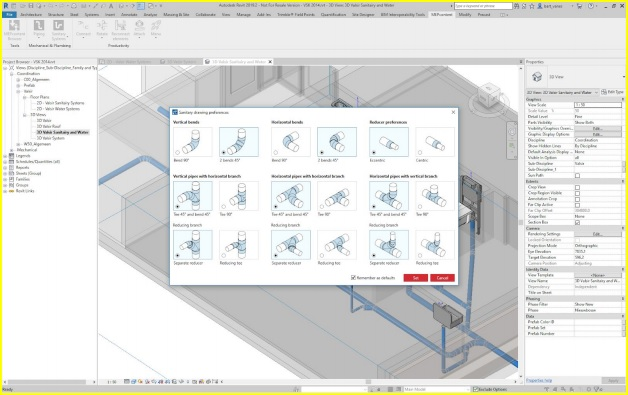 MEPcontent created a Product Line Placer Add-on for Revit for Sanitary Systems