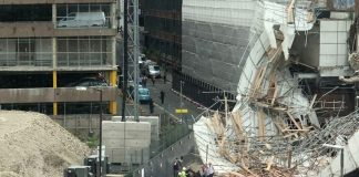 scaffolding collapse, Garrard Street,