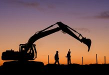 Excavator sales, construction industry