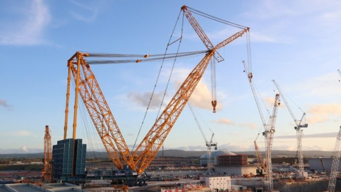 World's largest crane, Hinkley Point C,