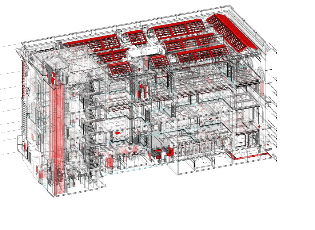 National Portrait Gallery, BIM model,