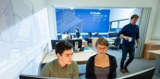 Technology Lab for architecture, engineering and construction, Edinburgh Napier University, Trimble,