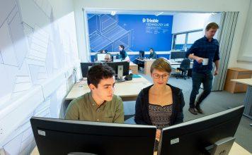 Technology Lab for architecture, engineering and construction, Edinburgh Napier University, Trimble,