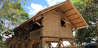 Sustainable bamboo houses,