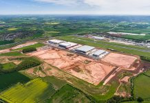 industrial unit, logistics hub in the East Midlands,