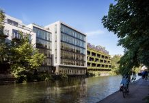 sustainable office development, Cross Laminated Timber,