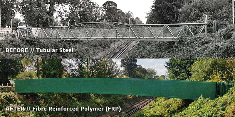 Lightweight Fibre Reinforced Polymer (FRP) Footbridge