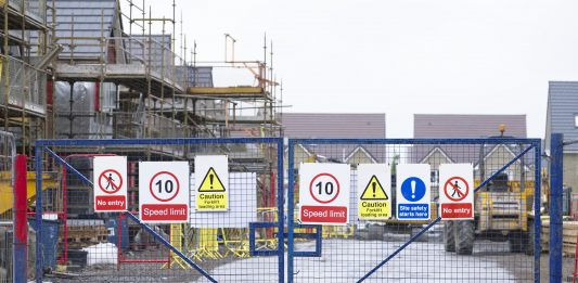 construction sites, coronavirus lockdown,