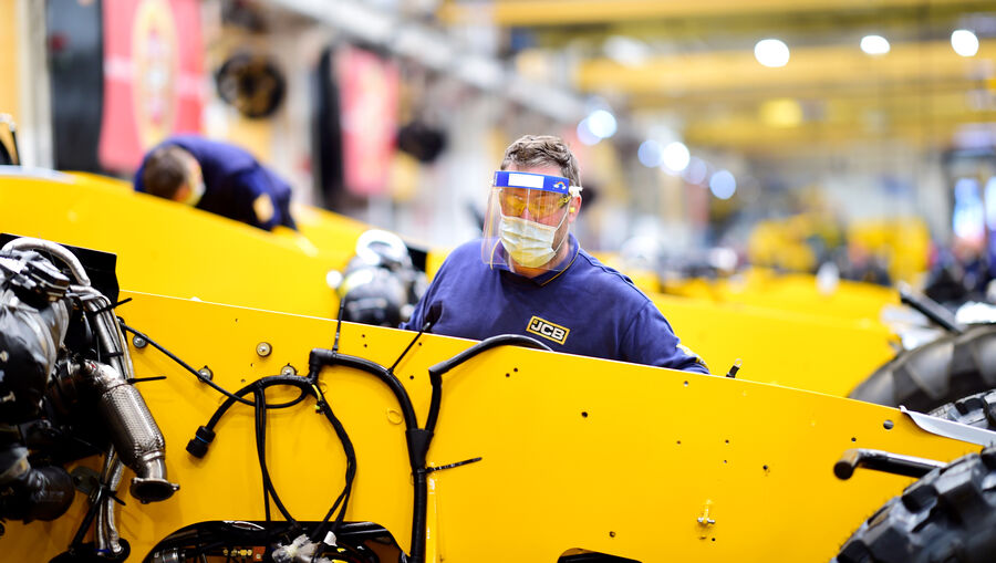 JCB reopens factory doors with safety measures in place
