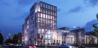 Arts & Humanities building, digital construction,