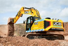 hydrogen powered excavator,