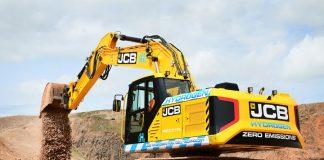 hydrogen powered excavator,