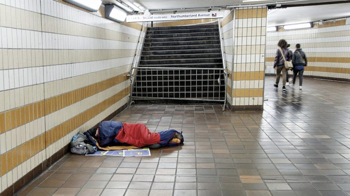 Homeless londoners, rough sleepers,