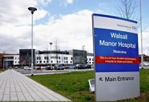 emergency department at Walsall Manor Hospital,