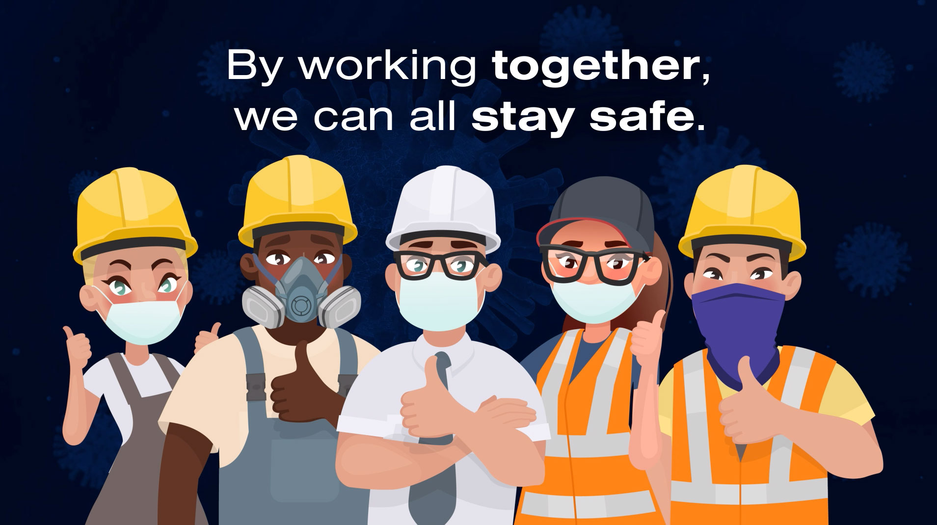 CICV urges construction workers to wear face coverings correctly