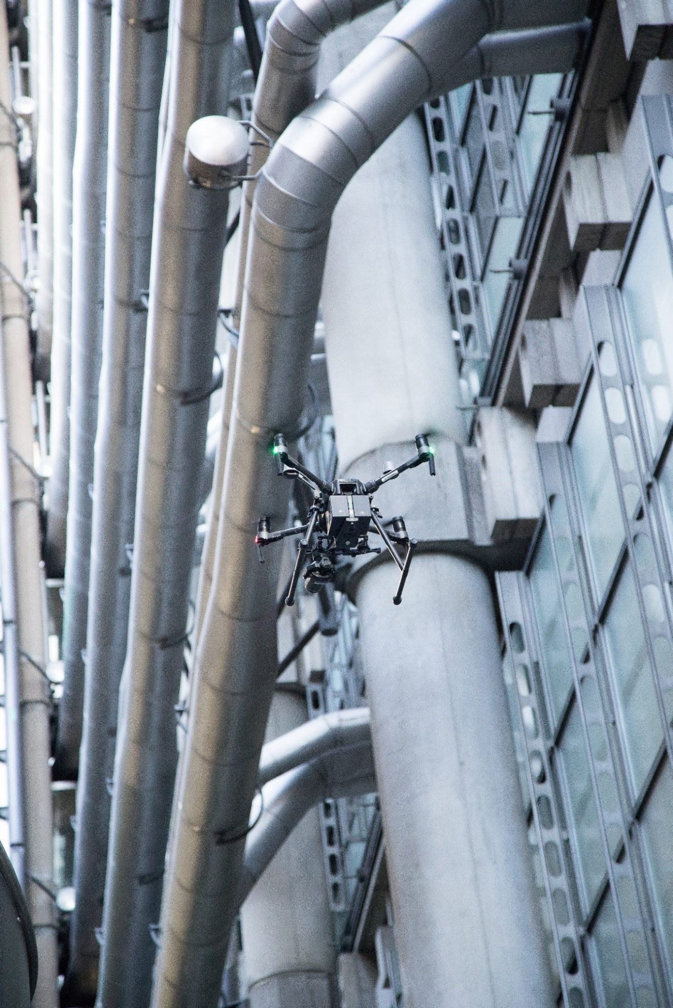 Drone surveying a London landmark