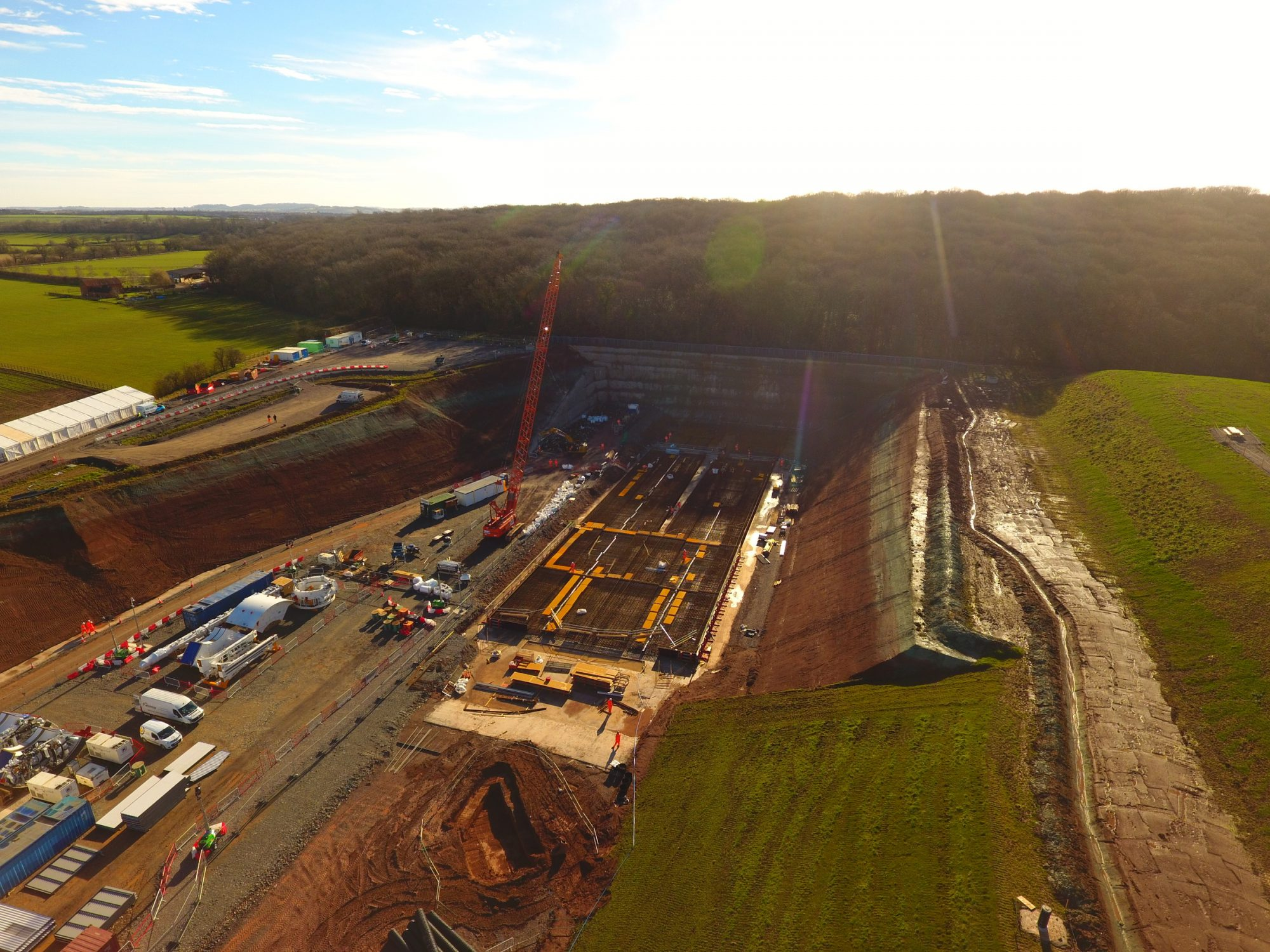 HS2 construction site prepares to launch tunnel boring machine