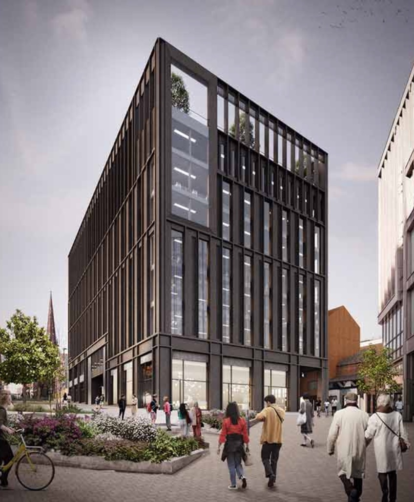 Construction underway on new urban development in Sheffield