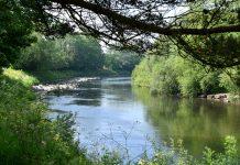 Coastal protection scheme, flood defence, River Rhymney