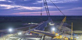 Mores Overbridge, M11, Steel