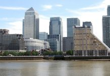 Commercial buildings, Canary Wharf London